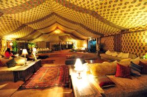 Interior Bedouin tent