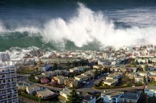 raz de marée sur la ville