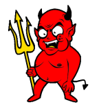 Devil with Pitchfork