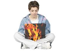 Fire Laptop